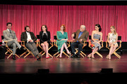 """(L-R) Actors Jon Hamm, Vincent Kartheiser, Elisabeth Moss, Christina Hendricks, Robert Morse, Jessica Pare, Kiernan Shipka on stage at The Paley Center For Media's PaleyFest 2014 Honoring """"Mad Men"""" at Dolby Theatre on March 21, 2014 in Hollywood, California."""