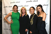(L-R) Katherine McPhee, Pamella Roland, Cara Santana and Victoria Justice are seen backstage for Pamella Rowland during New York Fashion Week: The Shows on September 10, 2019 in New York City.