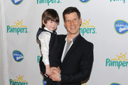 Maxfield Eliot and Eric Mabius attend the Pampers Dry Max launch party at Helen Mills Theater on March 18, 2010 in New York City.