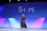 Tyra Banks speaks onstage during the 'Tyra Banks' Trail Blazing Entertainment Ventures - What's Next?: A Phygital Dream Come True' panel at AT&T SHAPE at Warner Bros. Studios on June 22, 2019 in Burbank, California.