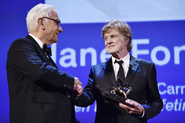 Paolo Baratta Jane Fonda and Robert Redford Golden Lions for Lifetime Achievement Awards Ceremony - 74th Venice Film Festival