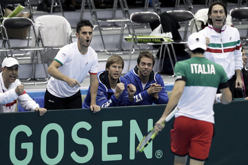 Paolo Lorenzi Japan v Italy - Davis Cup World Group 1st Round - Day 2
