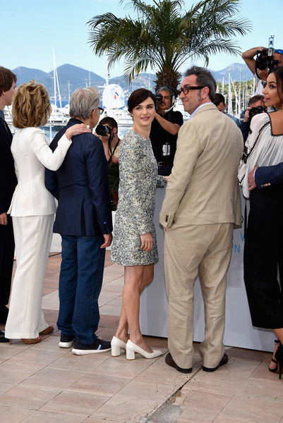 'Youth' Photocall - The 68th Annual Cannes Film Festival [youth photocall,people,event,suit,tourism,white-collar worker,formal wear,gesture,tuxedo,ceremony,crowd,paolo sorrentino,actors,actors,jane fonda,rachel weisz,harvey keitel,madalina ghenea,l-r,cannes film festival]