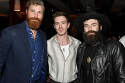 """(L-R) Derek Theler, Sam Keeley and Stephen Murphy attend Paramount Network's """"68 Whiskey"""" Premiere Party at Sunset Tower on January 14, 2020 in Los Angeles, California."""