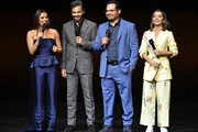 """(L-R) Eva Longoria, Eugenio Derbez, Michael Pena and Isabela Moner of """"Dora and The Lost City of Gold"""" attend the Paramount Pictures CinemaCon® 2019 Presentation held at The Colosseum at Caesars Palace on April 04, 2019 in Las Vegas, Nevada."""