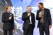"(from left) Jerry Bruckheimer, Ang Lee and Will Smith attend the Paramount Pictures ""Gemini Man"" Taipei Premiere at Miramar Da-Zhi Cinema on October 21, 2019 in Taipei, Taiwan."