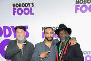 (L-R) Corbin Bernsen, Omari Hardwick, and Michael K. Williams attend the world premiere of 'Nobody's Fool' at AMC Lincoln Square Theater on October 28, 2018 in New York, New York.