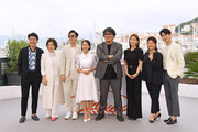 """Song Kang-ho, Chang Hyae-Jin, Lee Sun-gyun, Cho Yeo-jeong, Bong Joon-Ho, Park So-Dam, Lee Jung-Eun and Choi Woo-shik attend thephotocall for """"Parasite"""" during the 72nd annual Cannes Film Festival on May 22, 2019 in Cannes, France."""