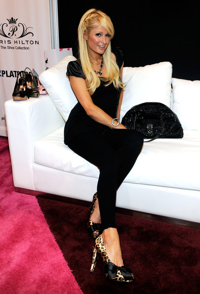 Paris Hilton (shoe detail) appears as she unveils her Paris Hilton's Spring 2011 Shoe Collection presented by Antebi Footwear at the MAGIC clothing industry