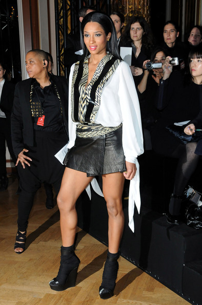 Singer Ciara attends Givenchy Fashion Show during Paris Fashion Week Haute Couture S/S 2010  on January 26, 2010 in Paris, France.