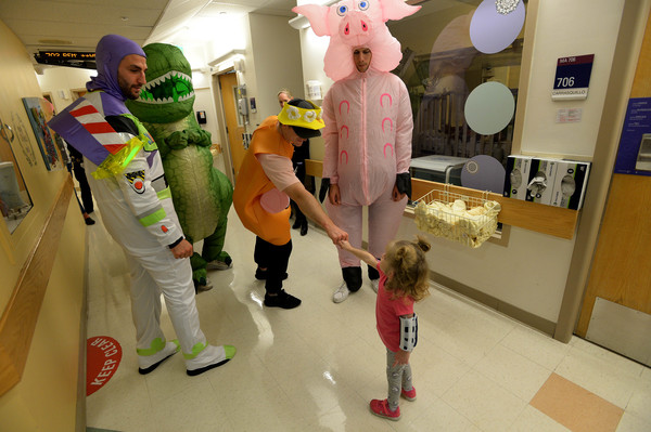 Boston Bruins Bring Toy Story 4 To Life At Boston Children's Hospital for Annual Halloween Visit