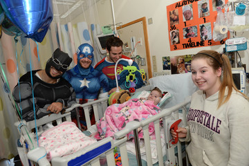 Patrice Bergeron Boston Bruins Celebrate Halloween In Costume At Boston Children's Hospital