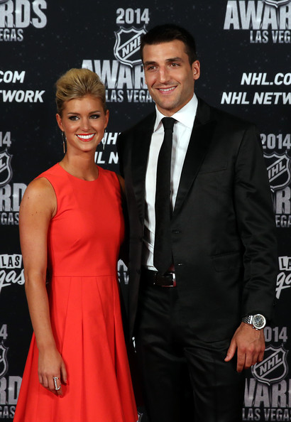 Patrice Bergeron with beautiful, cute, Wife Stephanie Bertrand
