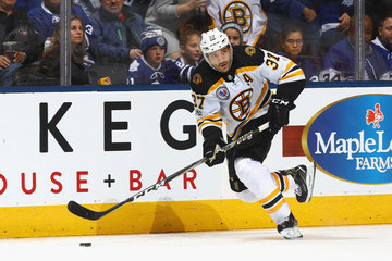Patrice Bergeron Boston Bruins v Toronto Maple Leafs