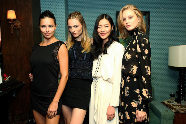 Society Hosts Fundraiser for English in Mind Institute in New York City [little black dress,fashion,event,dress,fashion design,fun,style,models,liu wen,andreja pejic,adriana lima,l-r,patricia van der vliet attend society hosts fundraiser for english,new york city,the wooly,mind institute,society hosts fundraiser for english]
