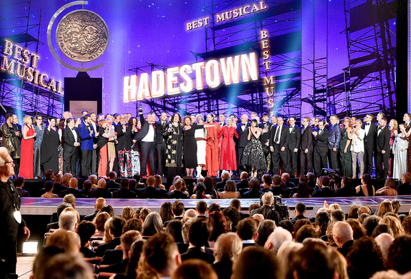 73rd Annual Tony Awards - Show [best musical,performance,event,stage,crowd,lighting,concert,choir,musical,musical ensemble,performing arts,crew,cast,award,new york city,radio city music hall,hadestown,tony awards,show]