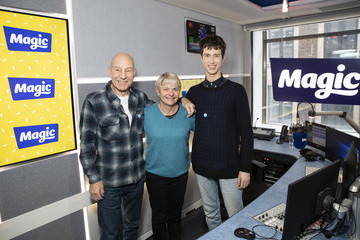 Patrick Stewart Patrick Stewart And Angus Imrie Visit Magic Radio