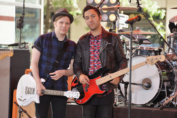 Patrick Stump Fall Out Boy Performs in NYC