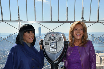 Patti LaBelle Denise Rich Patti LaBelle and Denise Rich Light Empire State Building for Gabrielle's Angel Foundation For Cancer Research