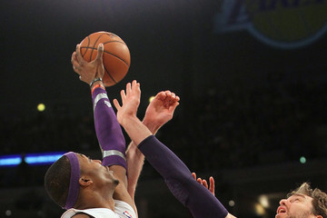 Pau Gasol Dwight Howard New York Knicks v Los Angeles Lakers