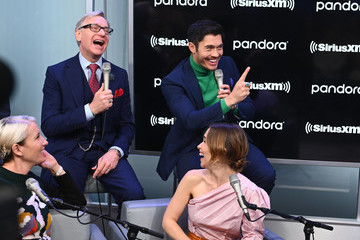 Paul Feig Henry Golding SiriusXM Town Hall Special With The Cast Of 'Last Christmas' Hosted By SiriusXM's Jessica Shaw At The SiriusXM Studios In New York City