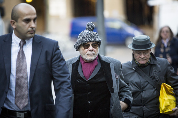 Gary Glitter Appears at Southwark Crown Court