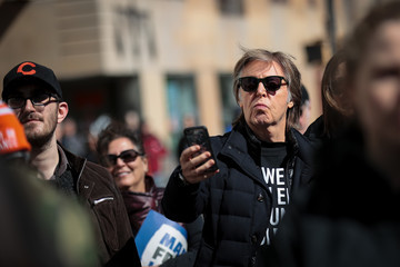 Paul McCartney Thousands Join March For Our Lives Events Across US For School Safety From Guns