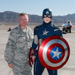 Paul Murray Madame Tussauds Unveils Captain America, The All-American Hero, At Nellis Air Force Base