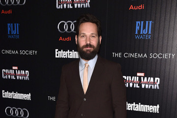 Paul Rudd The Cinema Society With Audi and FIJI Water Host a Screening of Marvel's 'Captain America: Civil War'