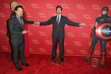 """Paul Rudd Madame Tussauds Hollywood Bring Figures For """"Avengers: Age Of Ultron"""" Premiere"""