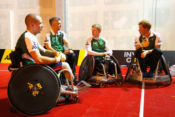 Paul Shaw Invictus Games: Exhibition Wheelchair Rugby Training
