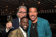 Kevin Hart, Paul Smith and Lionel Richie attend the Paul Smith Honors John Legend dinner on May 14, 2019 in Los Angeles, California.