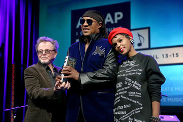 Paul Williams Stevie Wonder Presented With Key of Life Award at the ASCAP I Create Music Expo