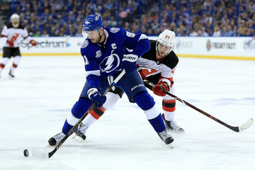 Pavel Zacha New Jersey Devils vs. Tampa Bay Lightning - Game One
