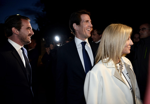 Royal Documentary Screening in Athens [sofia of spain attends a documentary,event,suit,fashion,formal wear,white-collar worker,night,premiere,gesture,businessperson,ceremony,queen,nikolaos,paul i,marie-chantal claire,father,crown prince,l-r,greece,athens]