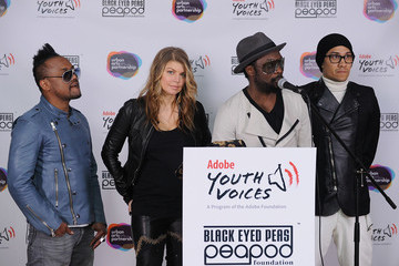 Fergie Black Eyed Peas Peapod Adobe Youth Voices Academy Launch