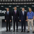 Pedro Sánchez Spanish Candidates To Elections Attends 'El Debate'