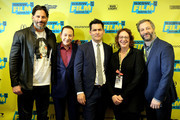 "Joe Manganiello, Paul Reubens, John Lee, head of SXSW Janet Pierson and Judd Apatow attend the premiere of ""Pee-wee's Big Holiday"" during the 2016 SXSW Music, Film + Interactive Festival at Paramount Theatre on March 17, 2016 in Austin, Texas."