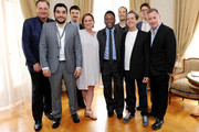 (L-R) Guy East, Ivan Orlic, Michael Zimbalist, Kim Rough, Former footballer Pele, Jeff Zimbalist, Brian Grazer, Alex Watson and Paul Kemsley attends a photo call to promote 'Pele', a film about his life not yet in production, during the 66th Annual Cannes Film Festival at the Palais des Festivals on May 15, 2013 in Cannes, France.