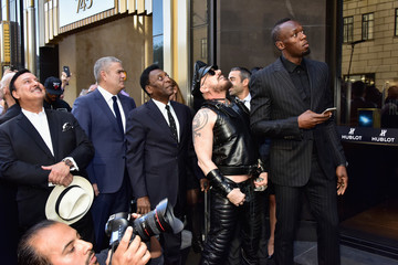 Pele Ricardo Guadalupe Hublot Celebrates Grand Opening of Fifth Avenue Boutique in NYC