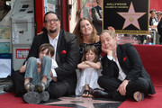 Magician Penn Jillette, Zolten Penn Jillette, Emily Zolten, Moxie Crimefighter Jillette and magician Teller attend a ceremony honoring Penn & Teller with the 2,494th star on the Hollywood Walk of Fame on April 5, 2013 in Hollywood, California.