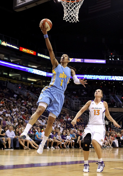 Chicago Sky v Phoenix Mercury [shot,basketball,player,basketball moves,sports,basketball court,basketball player,team sport,ball game,sport venue,tamera young 1,user,user,penny taylor,note,chicago sky,phoenix mercury,game,half]