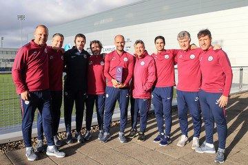 Pep Guardiola Pep Guardiola Is Awarded With the Barclays Premier League Manager of the Month for October