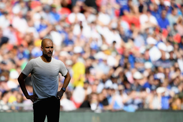 Pep Guardiola Manchester City vs. Chelsea - FA Community Shield