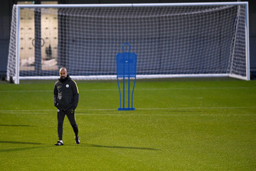 Pep Guardiola Manchester City Training Session and Press Conference