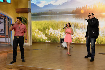 Pepe Aguilar Celebrities On The Set Of Univision's 'Despierta America'