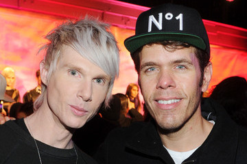 Perez Hilton Brian Lichtenberg - Front Row & Backstage - Fall 2014 Mercedes Benz Fashion Week