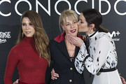 (L-R) Actresses Juana Acosta, Belen Rueda and Dafne Fernandez attend 'Perfectos Desconocidos' photocall at the Hesperia Hotel on November 28, 2017 in Madrid, Spain.