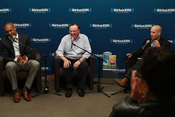Pete Dominick James Patterson and Grant Hill Visit the SiriusXM Studios