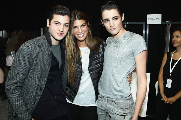 peter brant and harry brant photos photos pfw front row